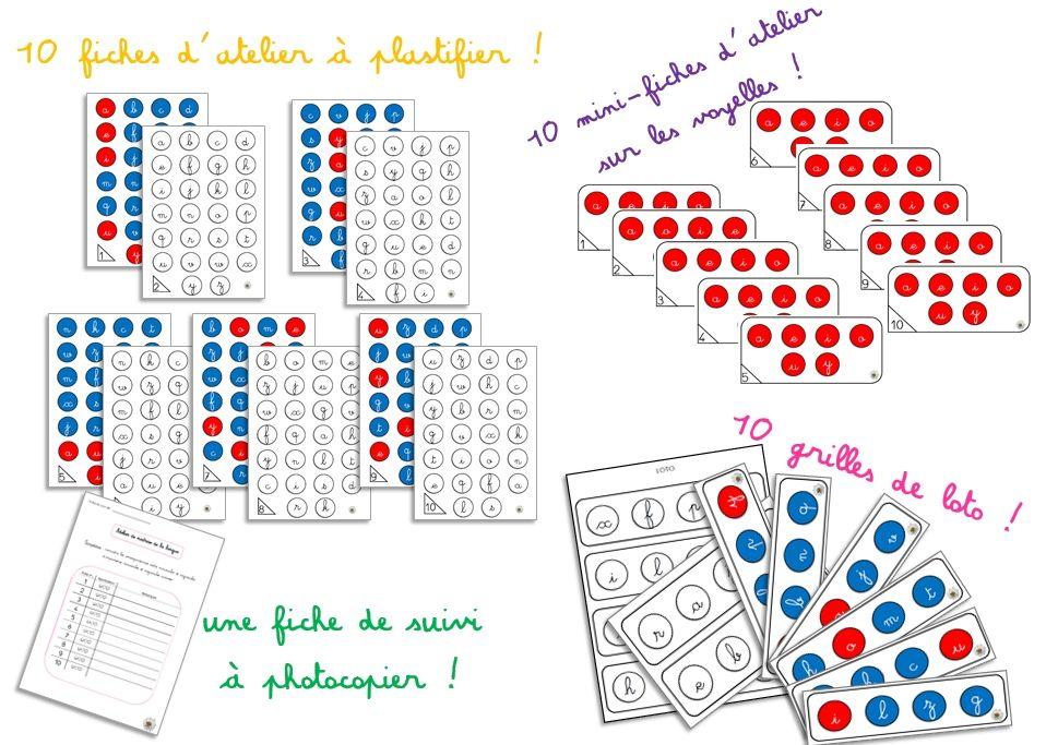 Favori 3 ateliers d'association lettres cursives / lettres scriptes  OZ82