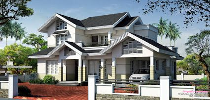 Sloped Roof House Elevation Design House Roof House Elevation