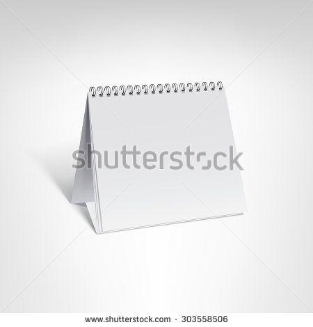 Spiral calendar vector template Small table calendar with blank