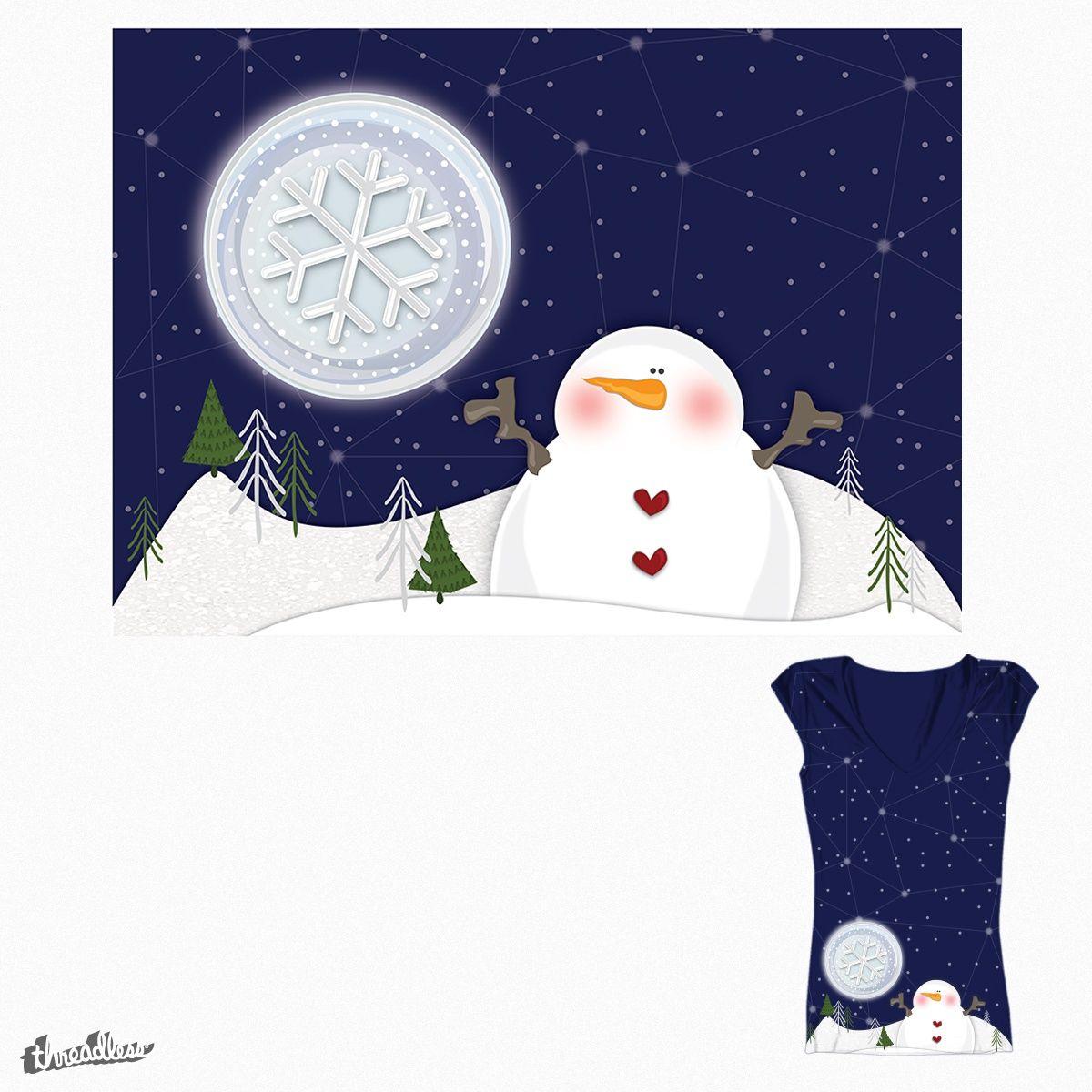 Snowman on Threadless