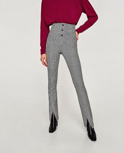 zara pantalones tiro alto mujer