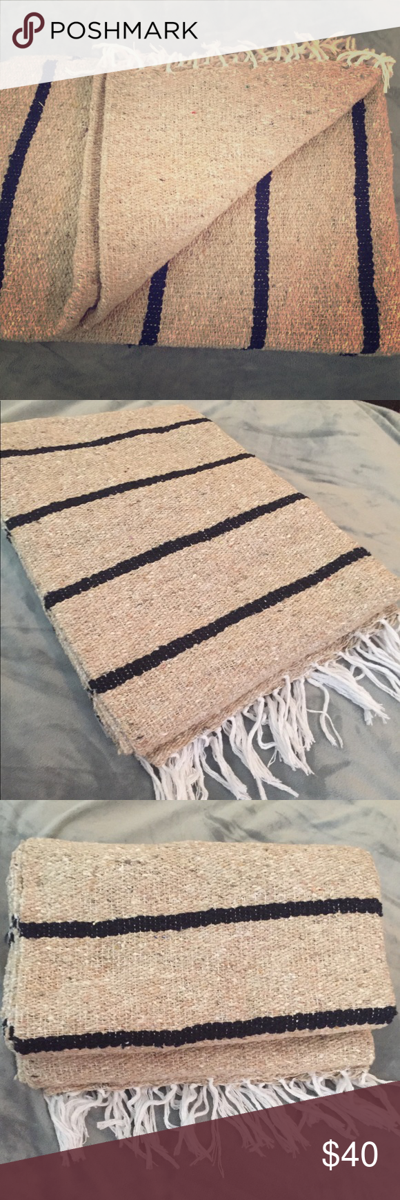 Sundream Coffee Aztec Blanket Handwoven In Mex Nwt In 2020 Hand Weaving Aztec Blanket Striped Throw