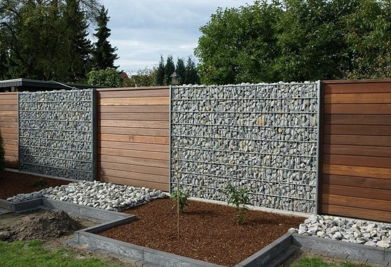 Gaviones Decorativos De Piedra Paredes Medida Muro Jardin Valla Gavion Piedras