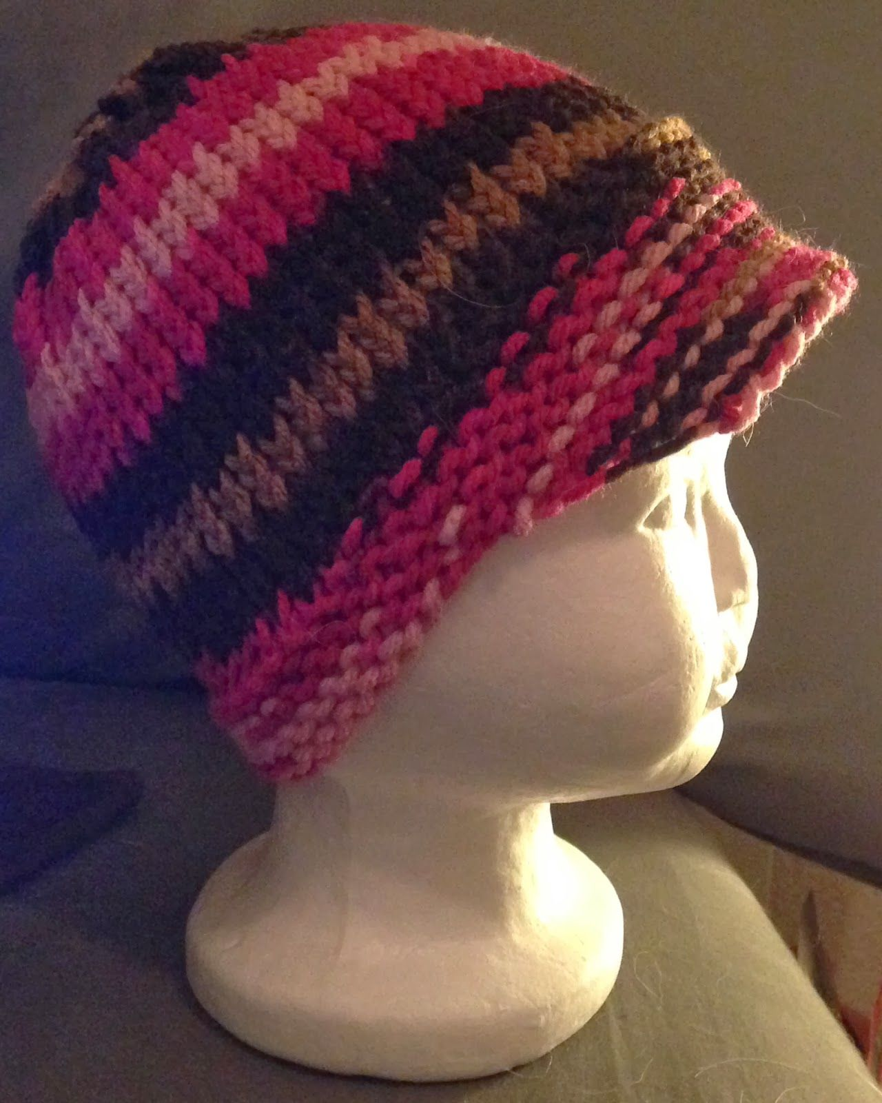 Druthers & Notions: Loom Knit Toddler Hat with Bill | Loom Knitting ...