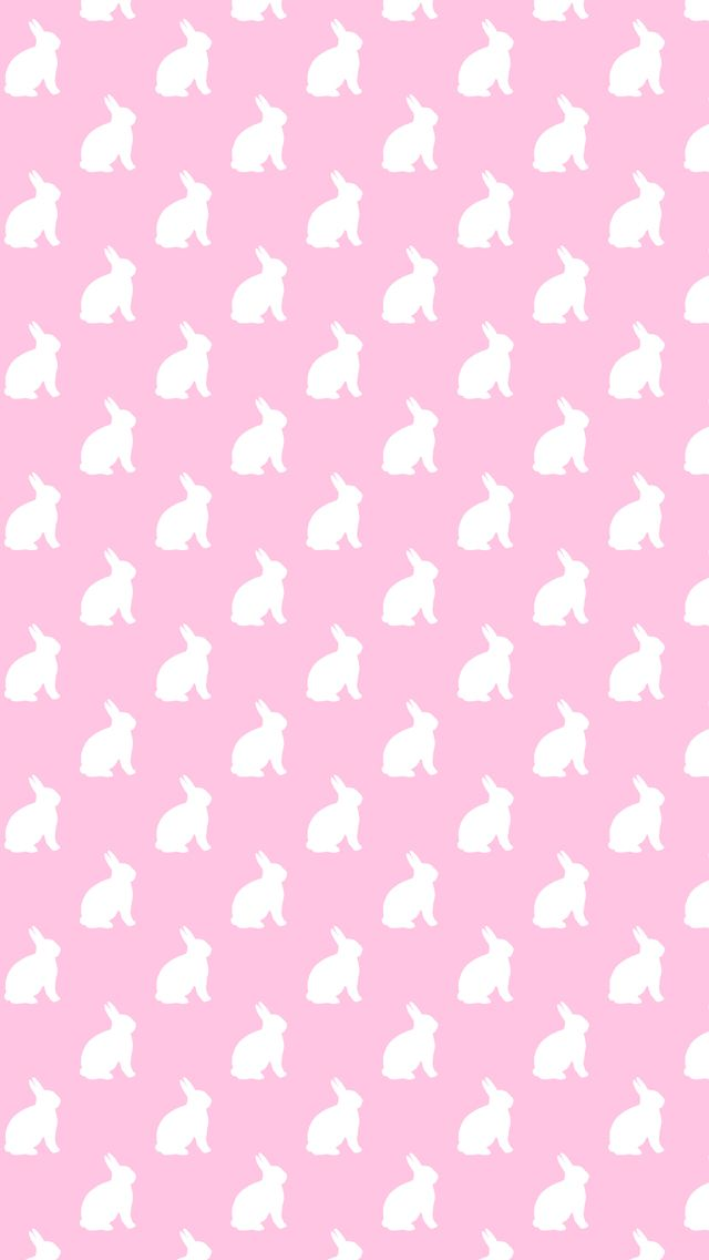 Pink And White Bunnies Background Bunny Pattern Texture IPhone New Bunny Pattern