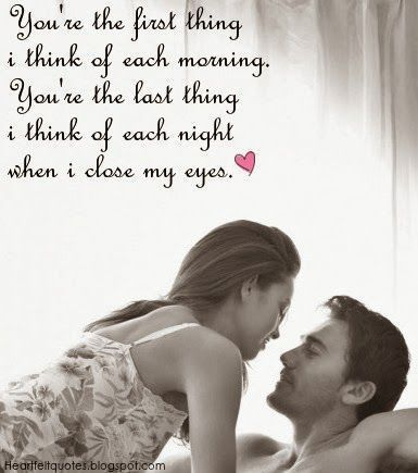 Youre The First Thing I Think Of Each Morning