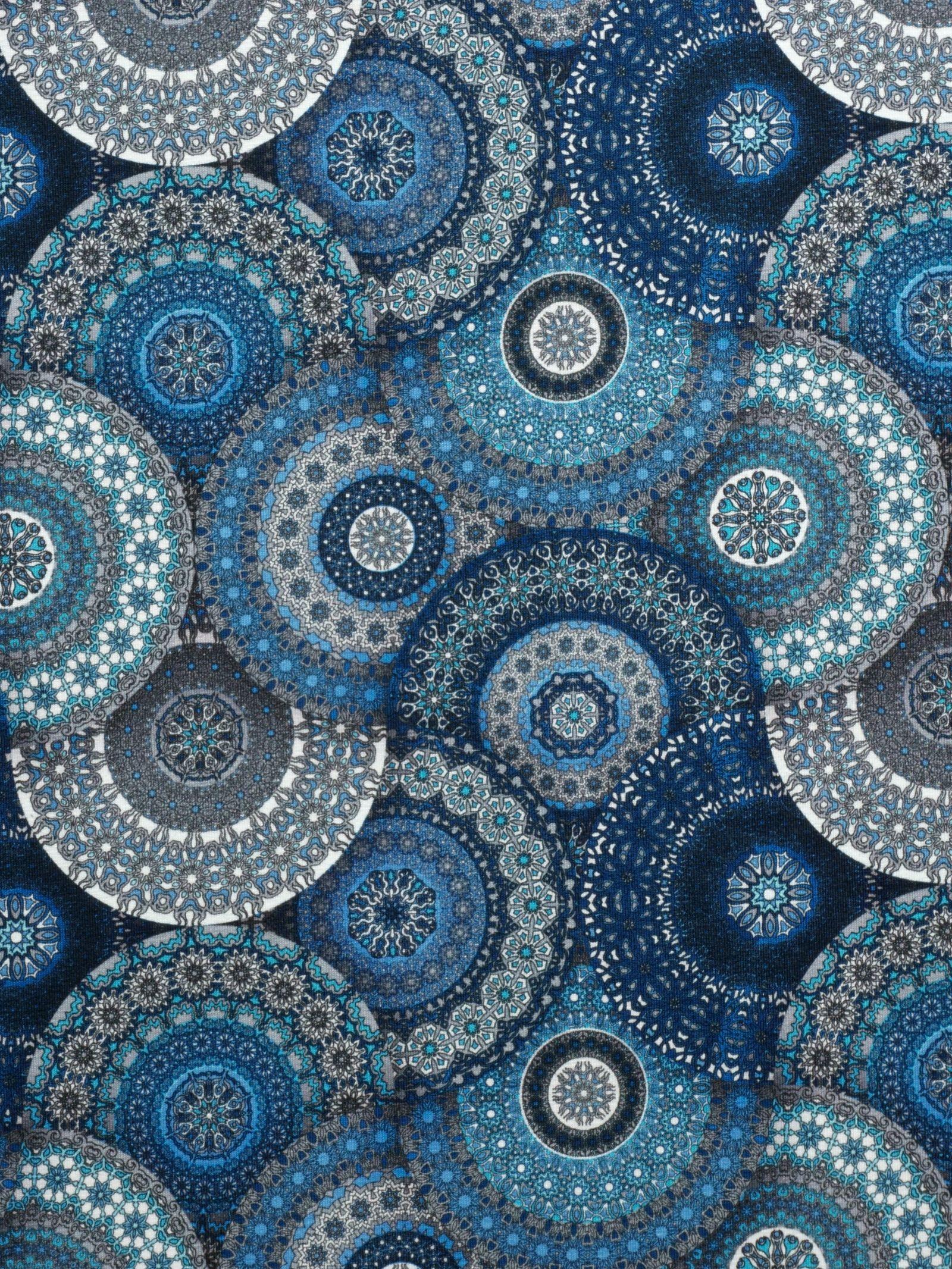 Jersey Stoff Blaue Mandalas Mandala Orientalisch Mystisch Meditation In 2020 Mandala Home Decor Quilts