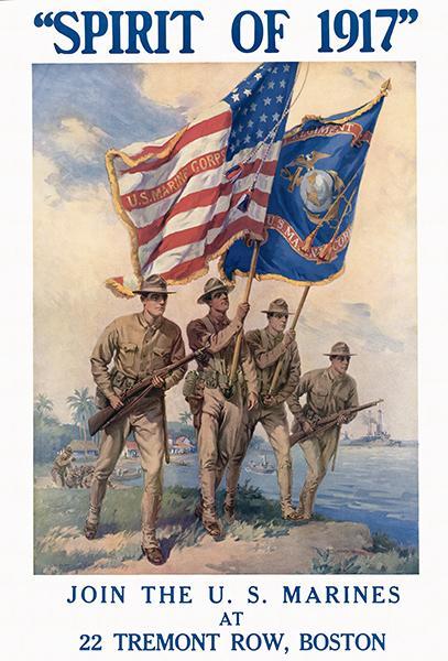 Spirit Of 1917 American Flag Marines Corps World War I
