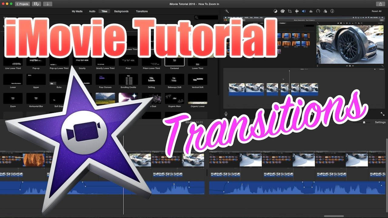 iMovie Tutorial Adding Transitions and Transition Length
