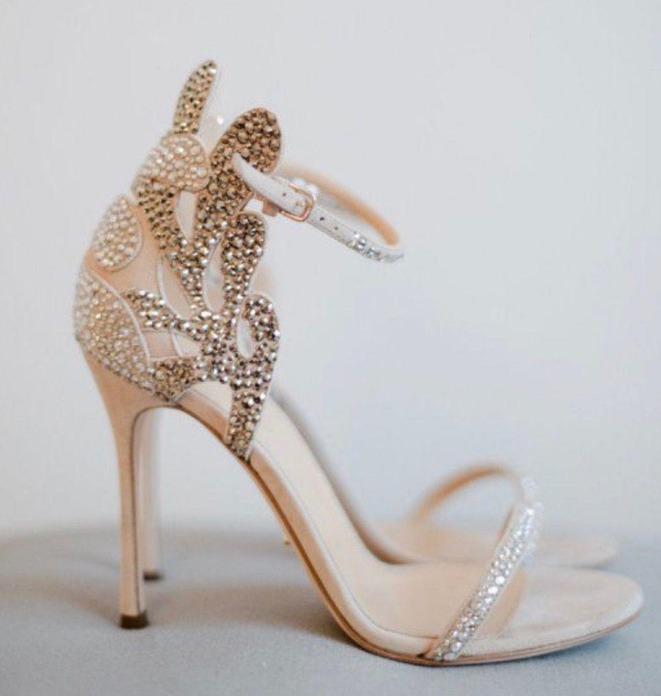Scarpe Da Sposa Color Champagne.Immagine Sandali Da Sposa Di Bambolinabarracuda Su Outfit E Moda