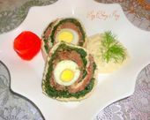 Photo of meatloaf rolled with spinach eggs – Meatloaf …