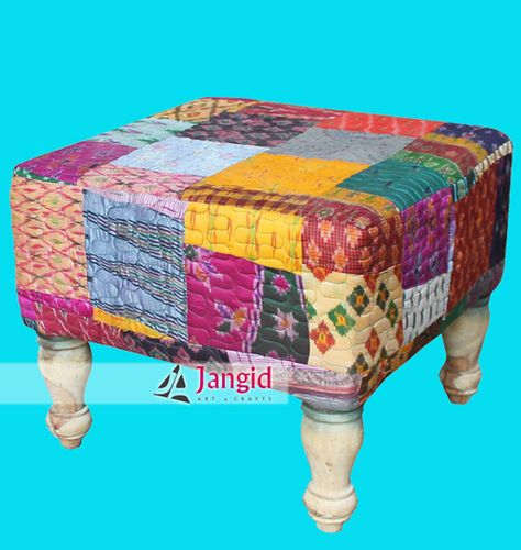 This Is Upholstered Colorful Patchwork Gudari Ottoman And Stools. We Are  Manufacturer And Exporter Of
