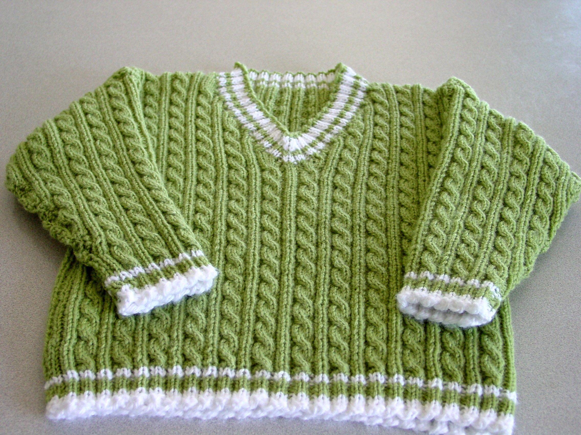 V-Neck Cable Sweater   Cable, Patterns and Yarn shop