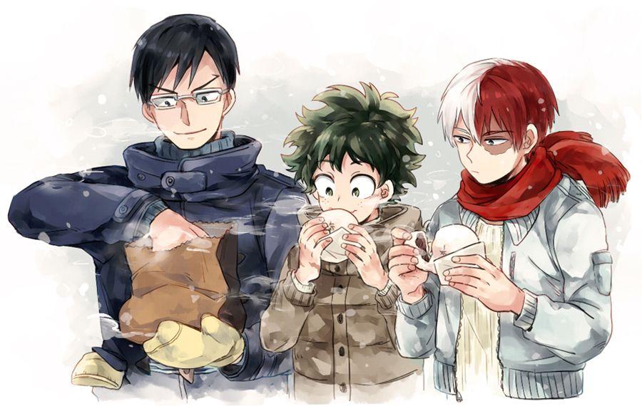 Boku no Hero Academia || Tenya Iida, Midoriya Izuku, Shouto Todoroki.