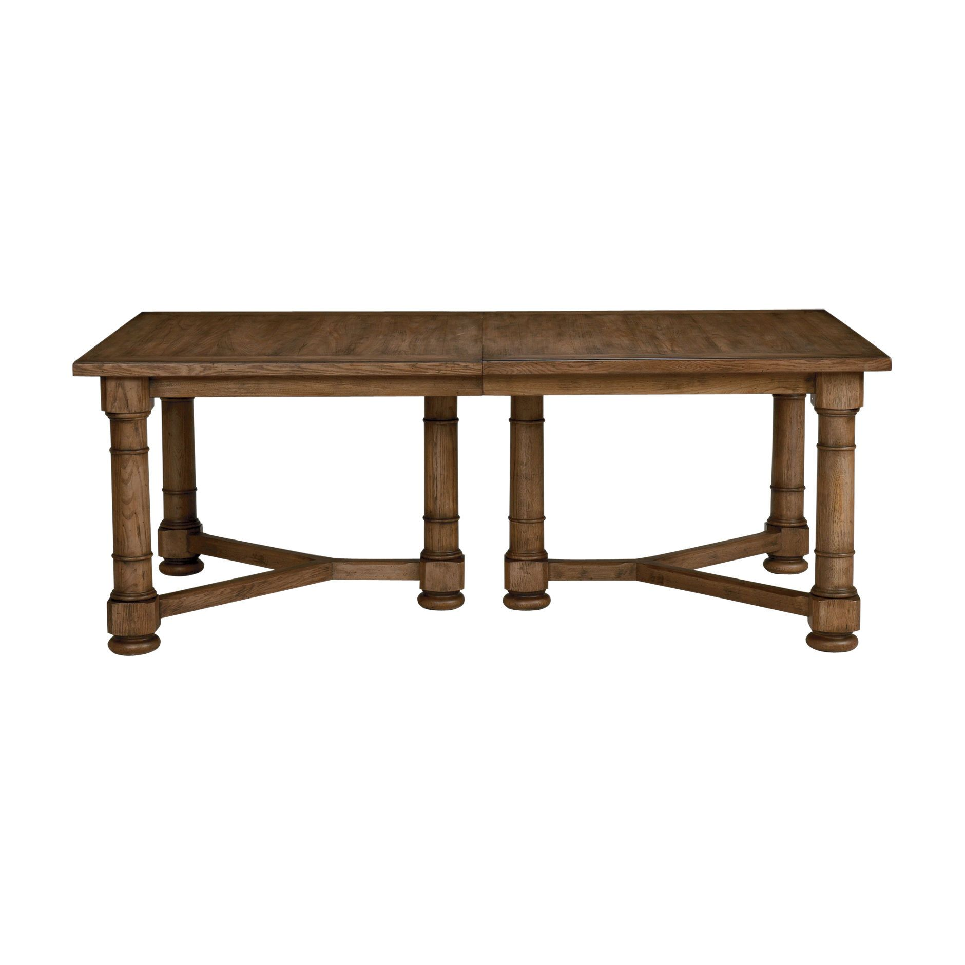 "Delphi Dining Table Ethan Allen US 128"" fully extended for"