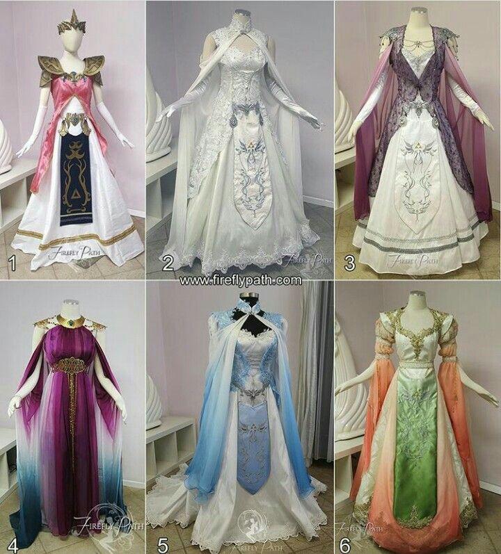 Variations of Princess Zeldau0027s dress from Twilight Princess. & Variations of Princess Zeldau0027s dress from Twilight Princess ...