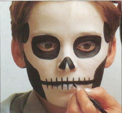 Maquillatge esquelet disfraces Pinterest Maquillaje niñas - maquillaje de halloween para nios