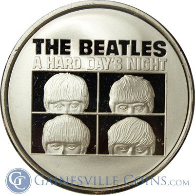 The Beatles A Hard Days Night 1 oz Silver Round