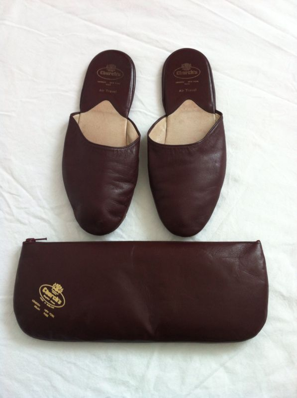 39438261bfff Church s Air Travel leather slippers