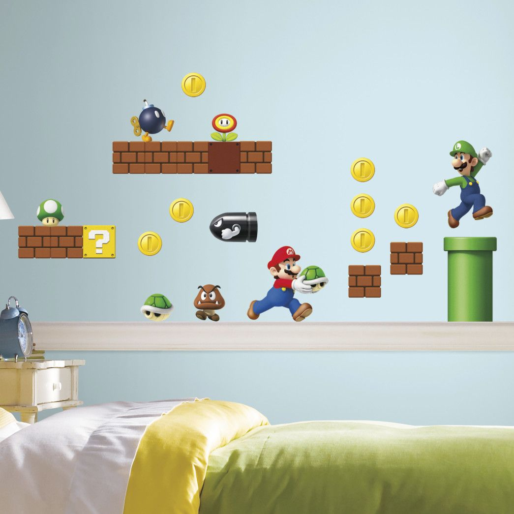 Nintendo Piece Super Mario Wall Decal Products Pinterest