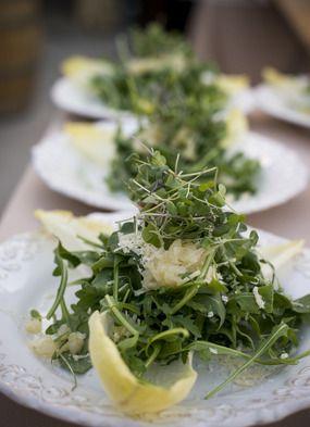 Fresh green salad before a tasty meal. #parkavenuecatering, #salad, #weddingdish