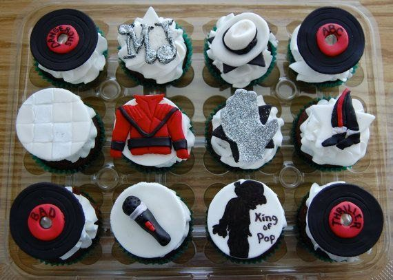 Music Theme Michael Jackson Cupcake Toppers 100 Edible