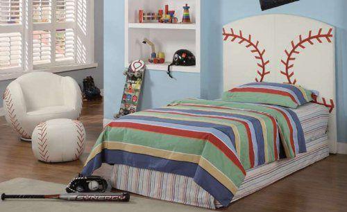 Kid Youth Baseball Twin Size Bed Headboard  151 00. Kid Youth Baseball Twin Size Bed Headboard  151 00   Kids Bed