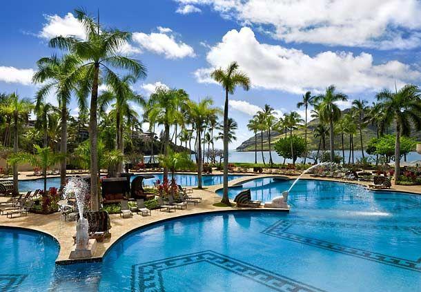 ¿Palmas, piscina y mar? ¡Sí, sí y sí! Kaua'i Marriott Resort en Hawaii
