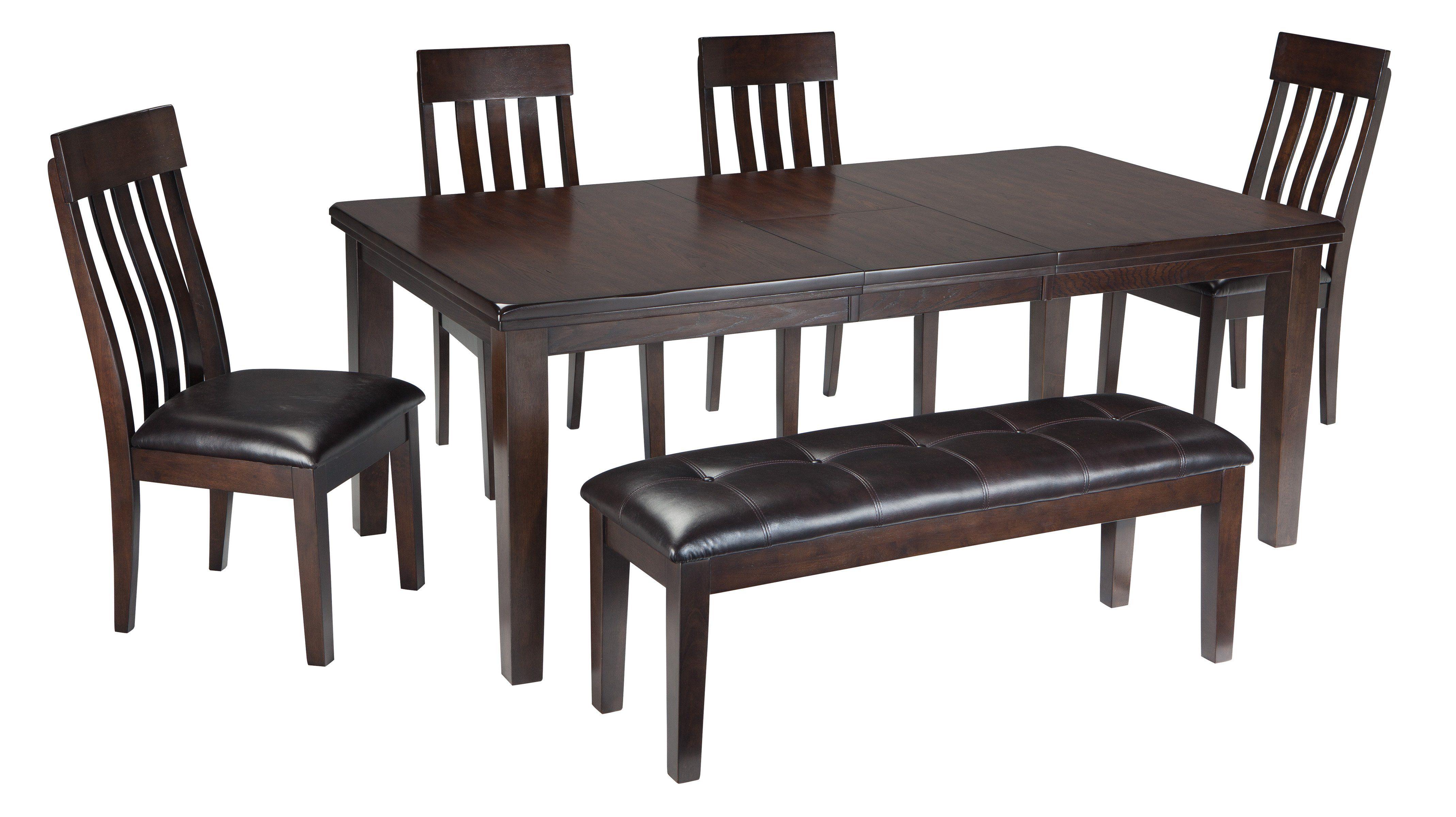 Haddigan 6 Piece Rectangular Dining Room Extendable Dining Table
