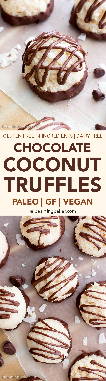Paleo Vegan Chocolate Coconut Truffles V Paleo Gf Df An Easy