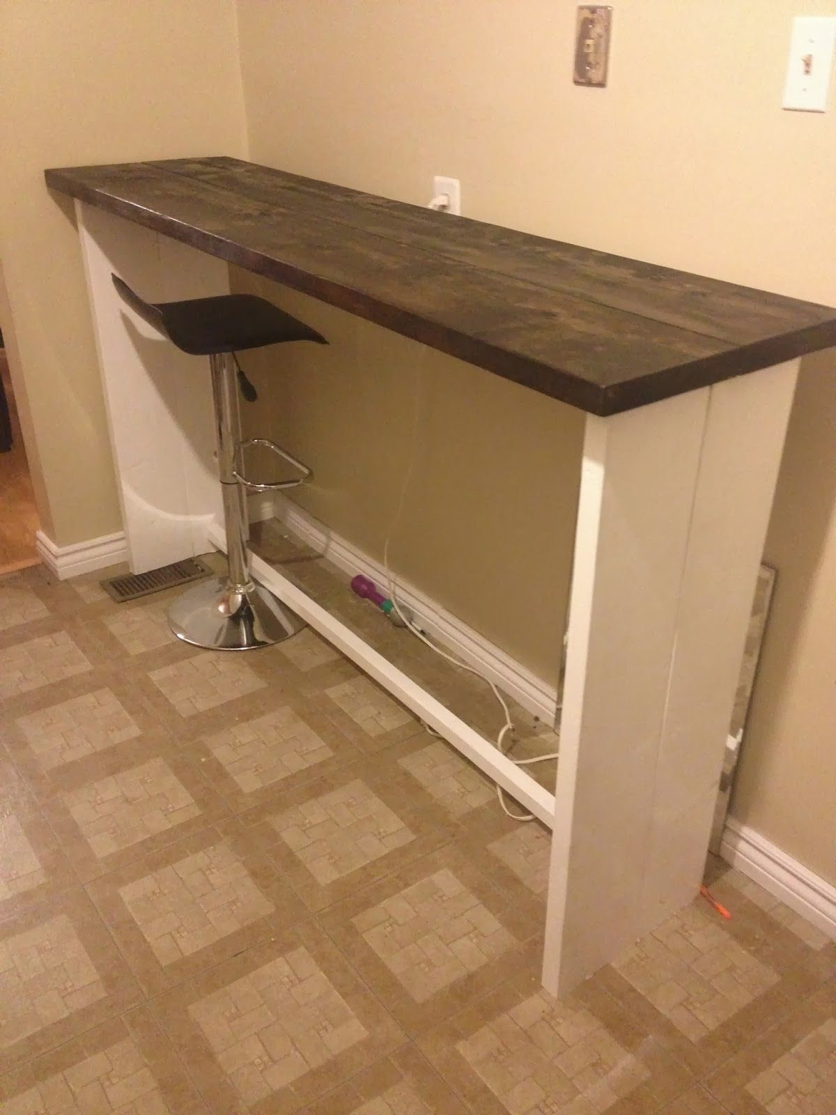 The Easiest Diy Furniture Ever Bar Table Diy Kitchen Bar
