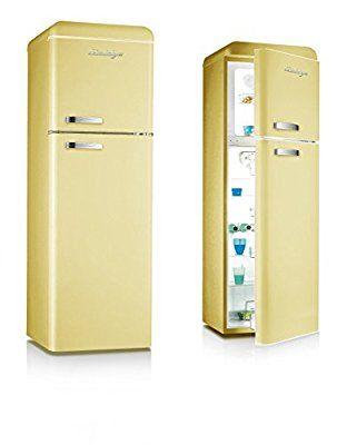 Retro Kühlschrank Creme A+ Kühl-Gefrierkombi Kühlschrank | Kitchen ...