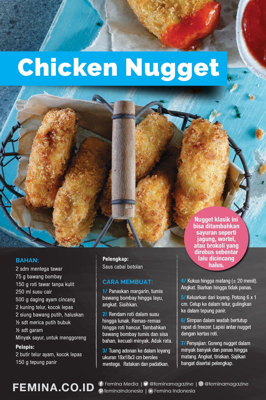 Resep Chicken Nugget Ide Makanan Makanan Chicken Nuggets