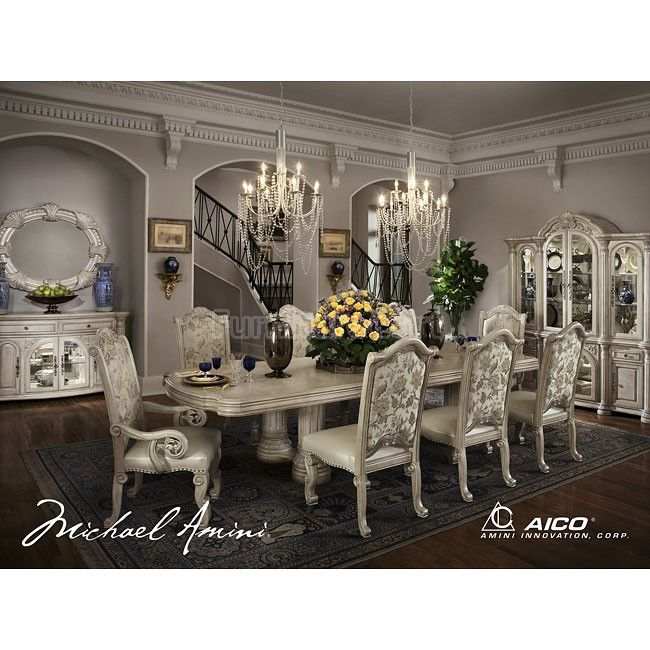 Monte Carlo II Dining Room Set (Silver Pearl) In 2019