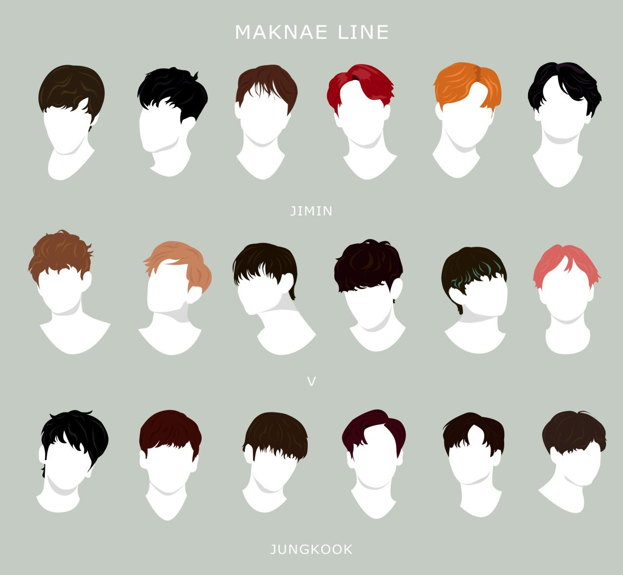 "hobiheartu: "" ""memorable bts hairstyles through the eras"