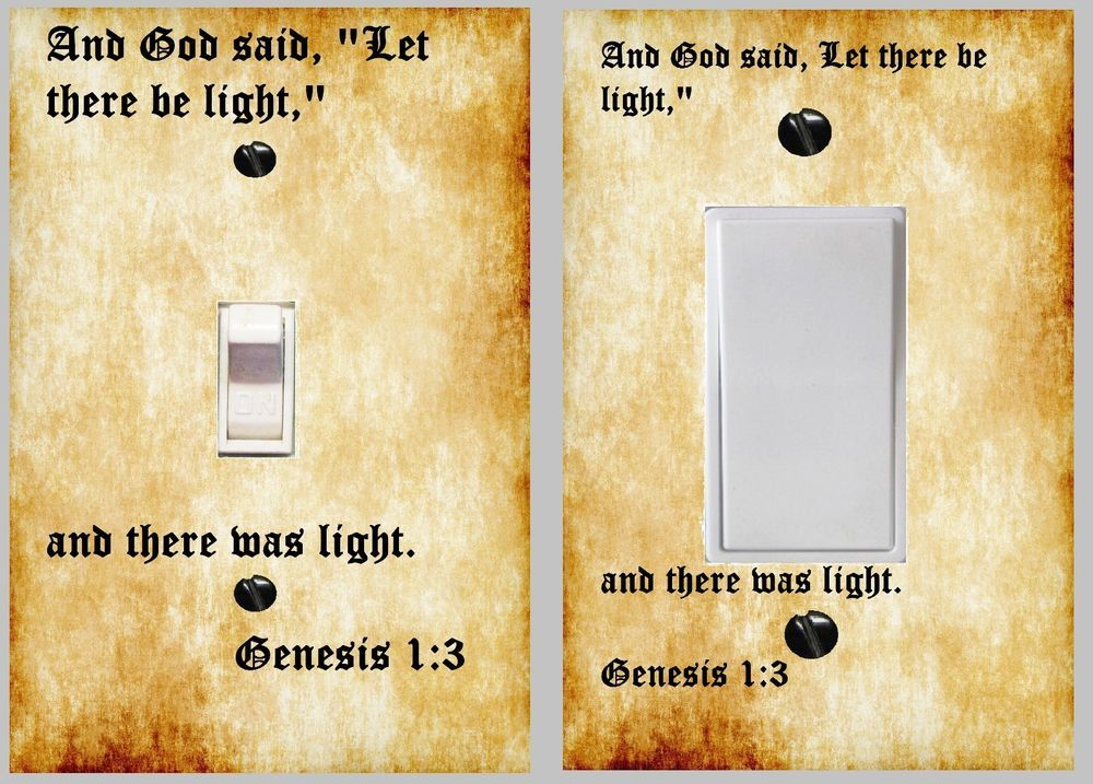 Bible decor light switch plate \