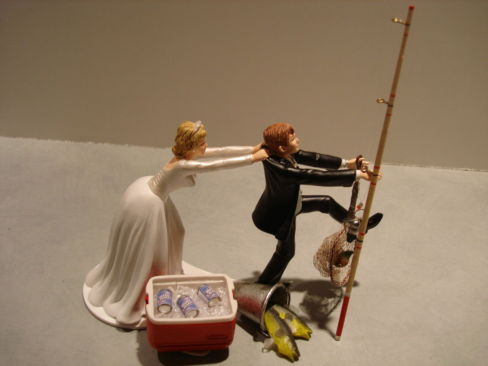 Fish fishing wedding cake topper not anytime soon but for Fishing cake toppers