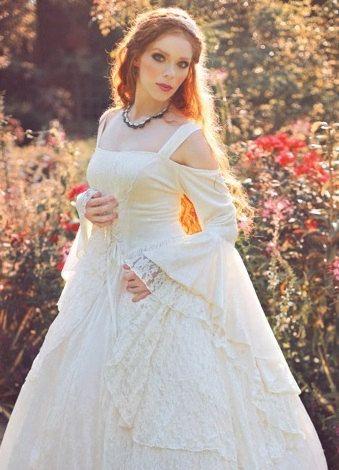 Gwendolyn Mittelalter oder Renaissance-Hochzeit Kittel samt und ...