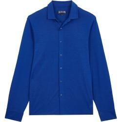Photo of Uomo pronto a indossare – Camicia solida in Jersey Tencel per uomo – Camicia – Calandre – Blu – Xl – Vileb