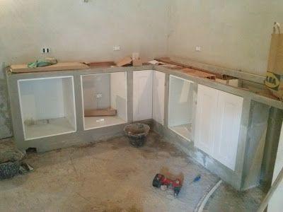 el eco del mundo LA CONSTRUCCIÓN DE UNA COCINA de ladrillo con - küche aus porenbeton