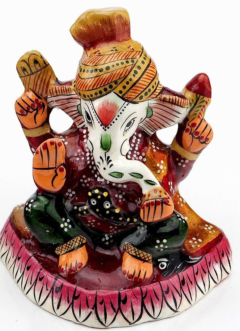 shining handpainted enamelled metal ganapati lord ganesha stuff