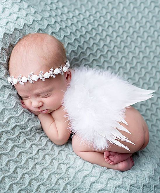 Alli Balli Boutique Ivory Floral Feather Wings   Headband - Infant on zulily 7fb183c104d