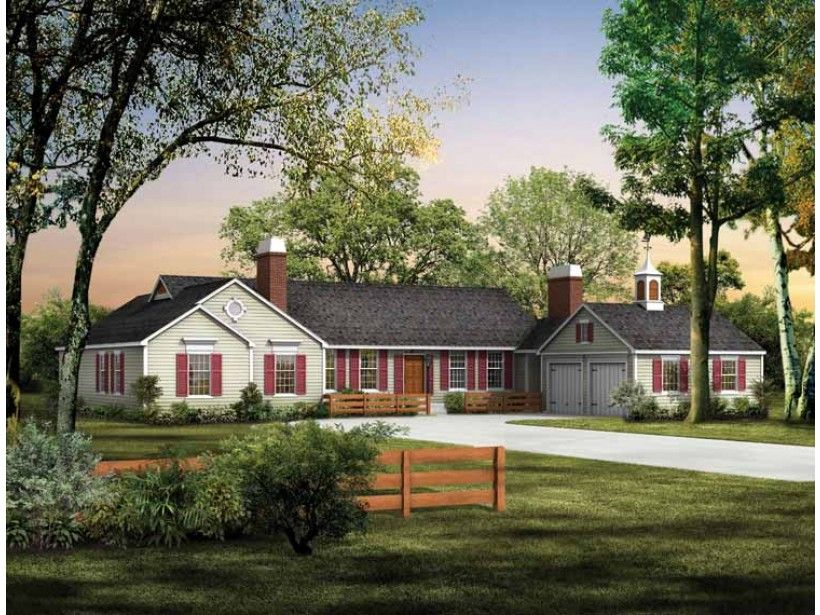 Ranch House Plan with 3018 Square Feet and 4 Bedrooms from Dream     Ranch House Plan with 3018 Square Feet and 4 Bedrooms from Dream Home  Source   House Plan Code DHSW37553