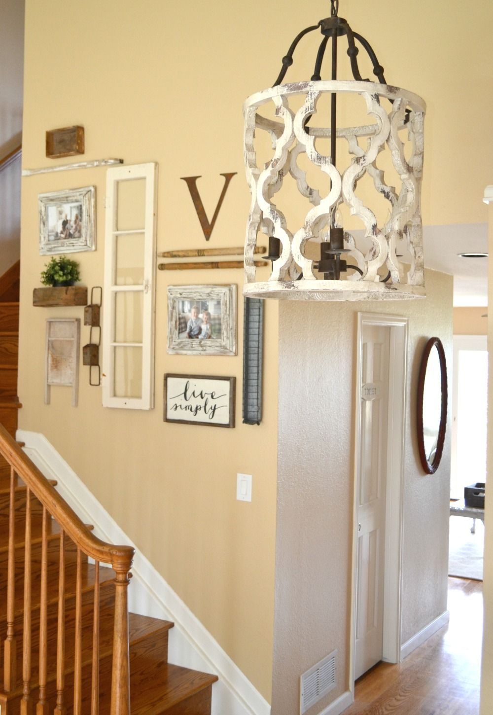 Updated Entryway The Prettiest Chandelier Sarah Joy Rustic