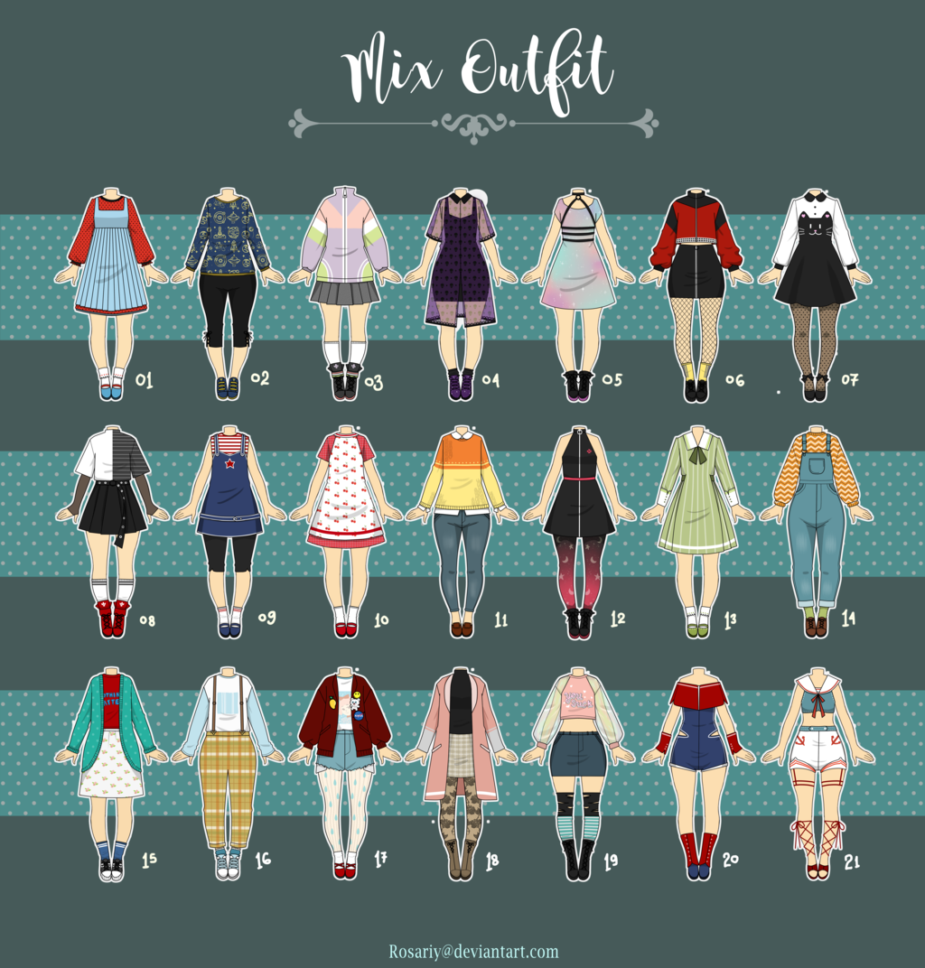 Closed Casual Outfit Adopts 08 By Rosariy Drawing Anime Clothes Anime Outfits Fashion Design Sketches