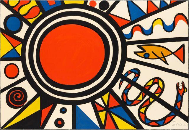 Alexander Calder, 'ENVIRONMENT AND EVOLUTION: CREATION,' 1973, Christopher-Clark Fine Art