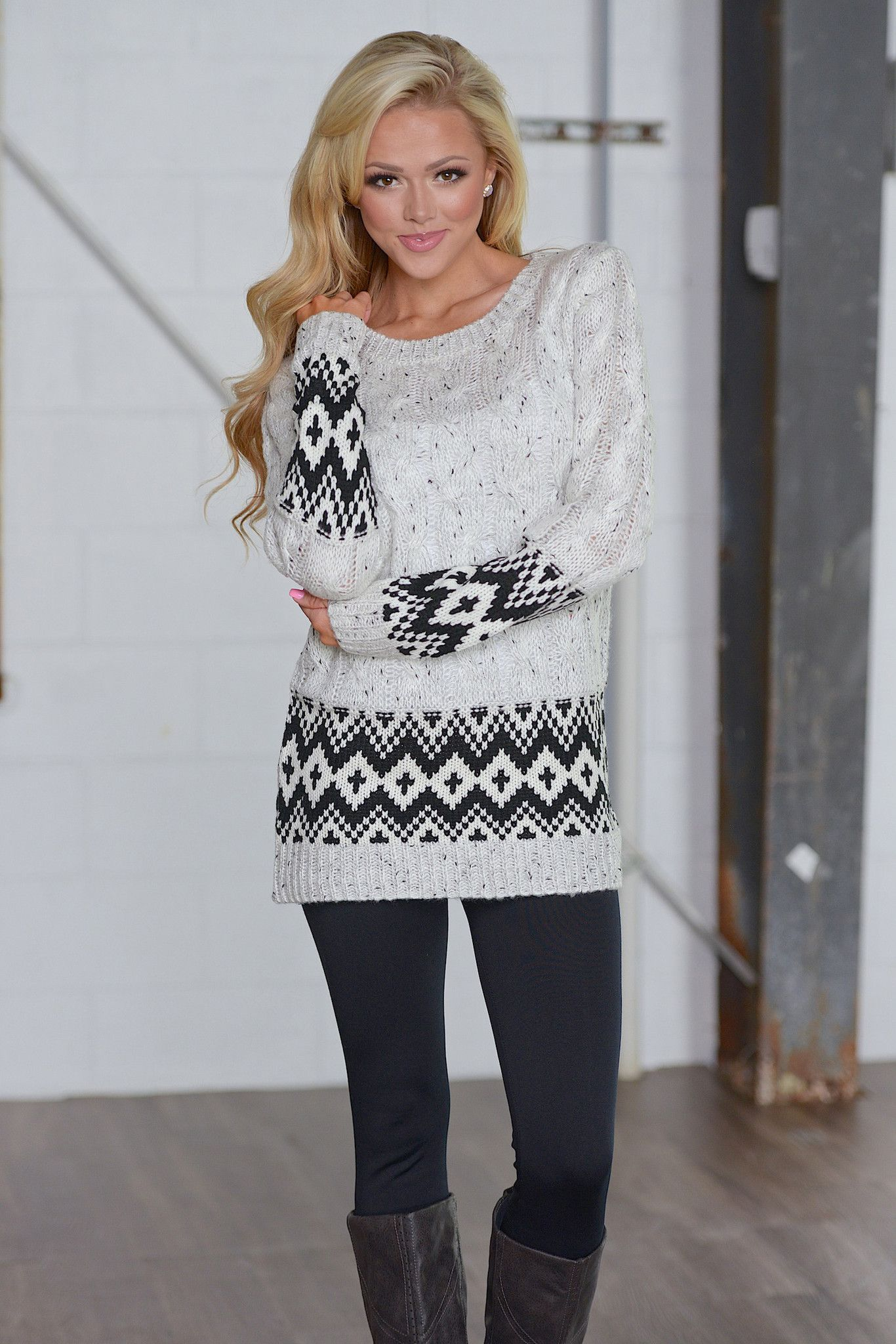 Hold Me Tight Cable Knit Sweater from Closet Candy Boutique ...