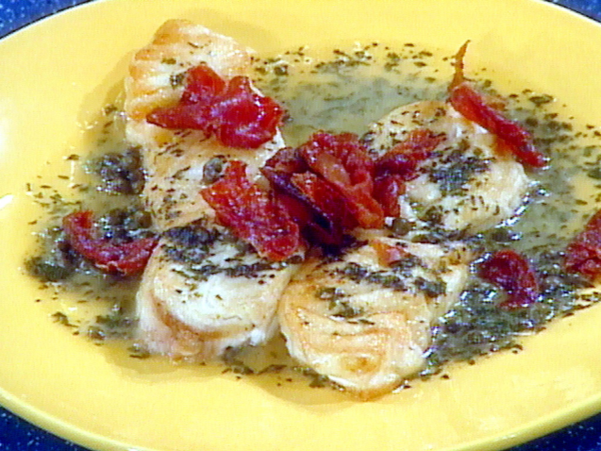 Pan Roasted Halibut With Prosciutto Lemon White Wine And Capers Recipe Roasted Halibut Halibut Recipes Food Network Recipes