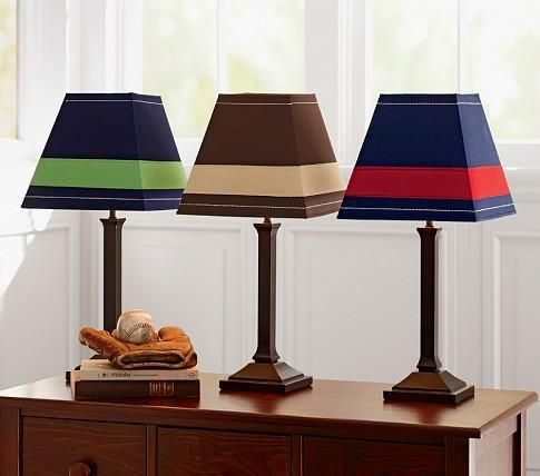 Rugby striped lampshades home pinterest touch lamp lamp bases rugby striped lampshades aloadofball Images