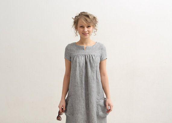 f5efb73b0b2 Womens linen tunic dress Womens clothing tunic by mimiiMadeIt ...